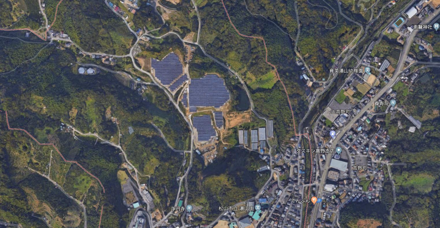 愛媛県松山市溝辺第三太陽光発電所 -完売ー   株式会社4E(フォーイー)